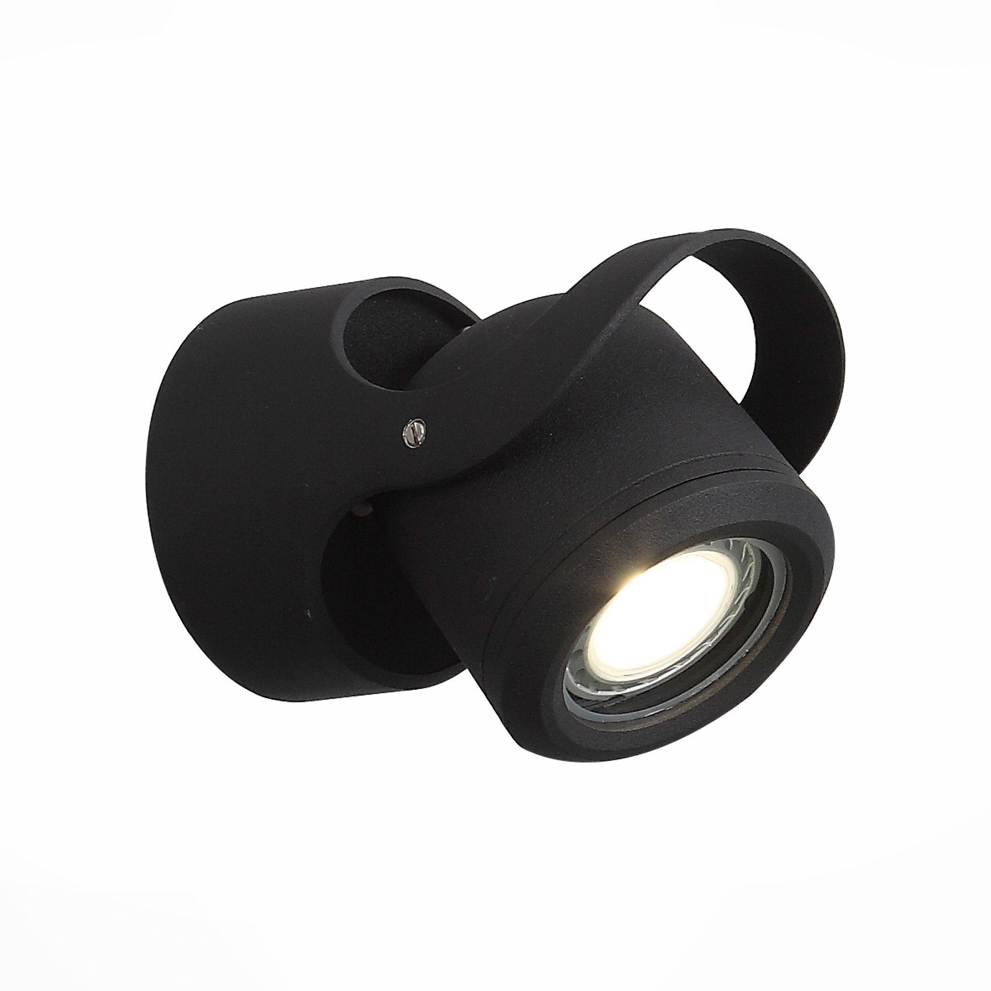 Светильник уличный настенный ST-Luce Черный/Черный, Прозрачный G5,3 1*7W SL093.401.01