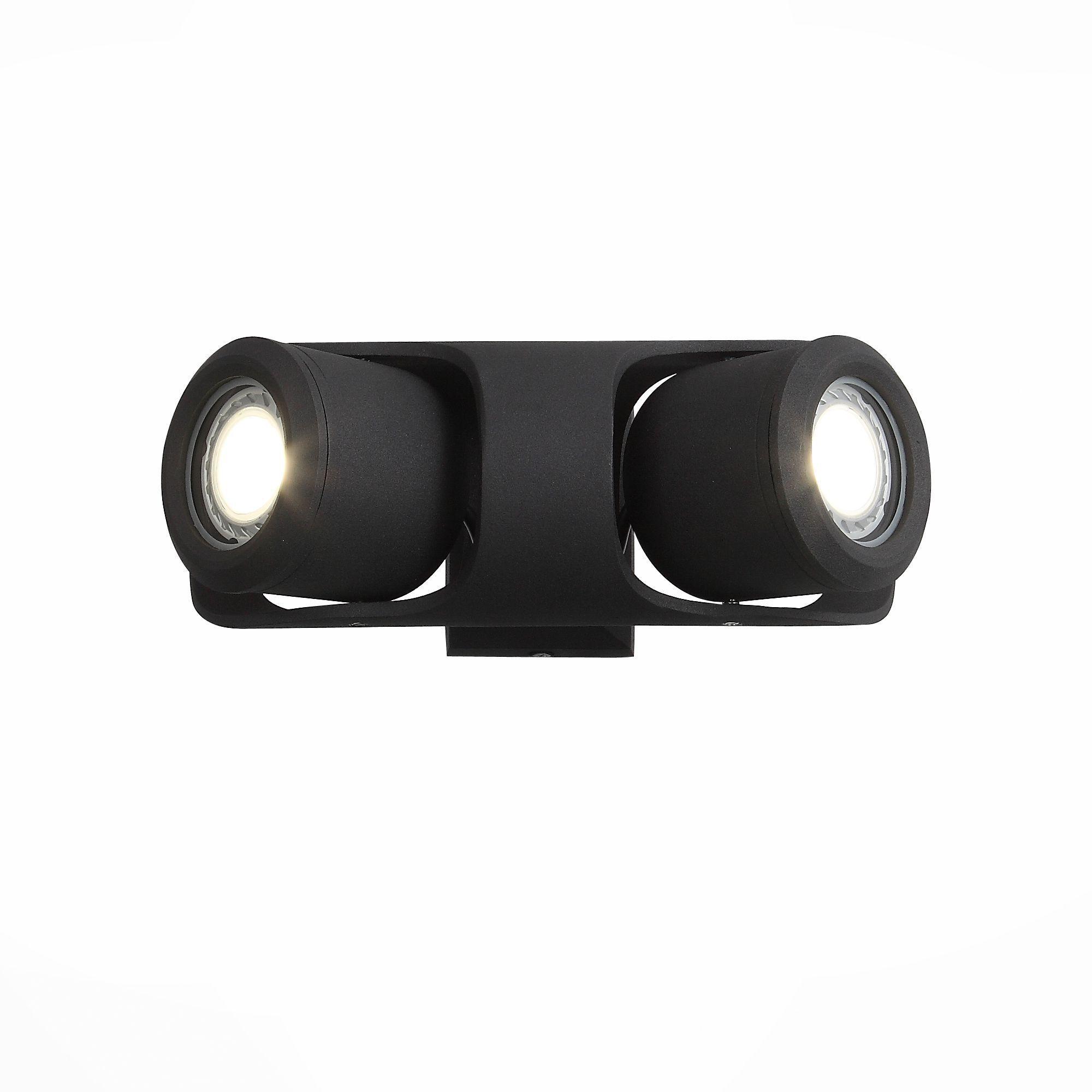 Светильник уличный настенный ST-Luce Черный/Черный, Прозрачный G5,3 2*7W SL093.401.02