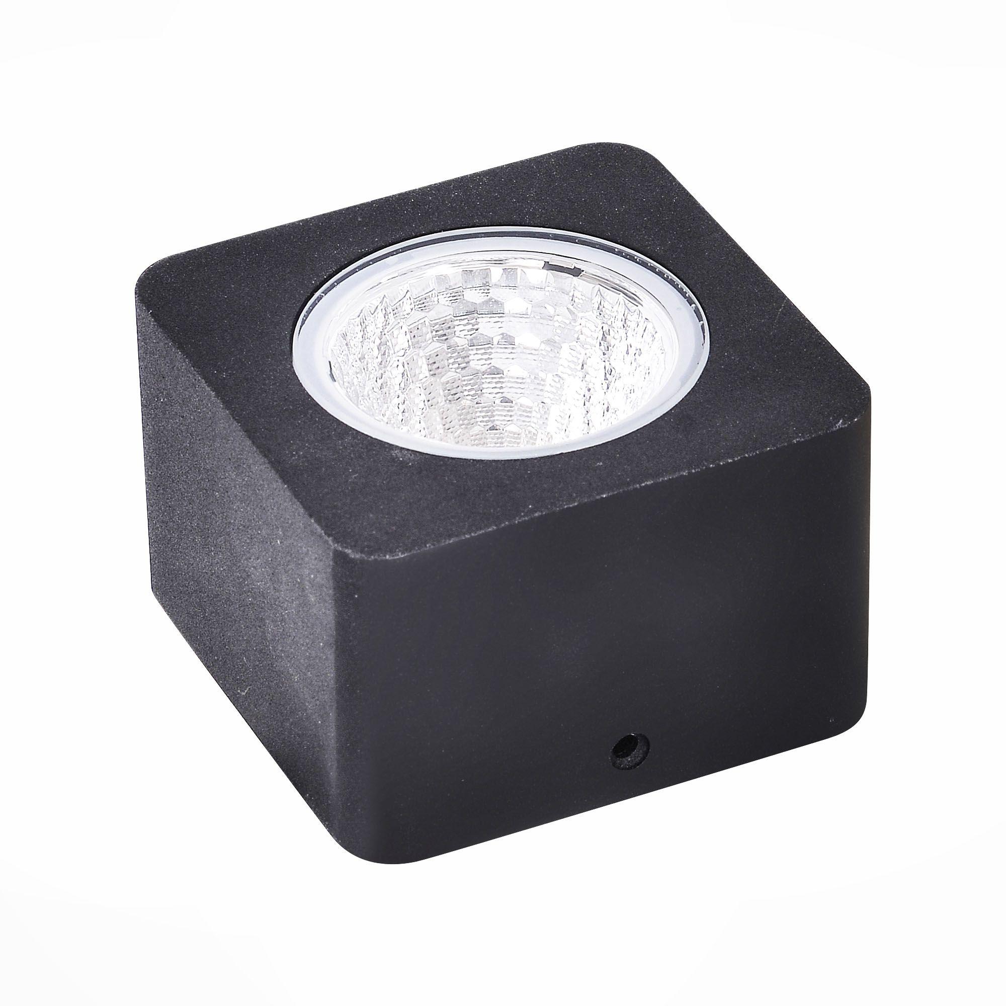 Светильник уличный наземный ST-Luce Черный/Прозрачный LED 1*8W SL097.405.01