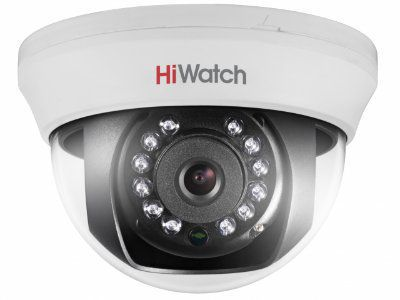 DS-T101 (6 mm) 1Мп внутренняя купольная HD-TVI камера с ИК-подсветкой до 20м