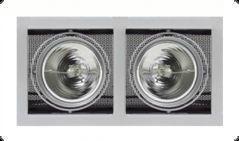Светильник Kardan E-2 QR-LP 111 2 x 50W G53 titan-matt