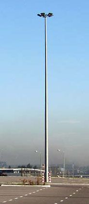 Высокомачтовая осветительная установка 25 метров с подвижной короной светильников
