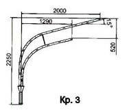 Кронштейн для светильников КР-3 (1035)