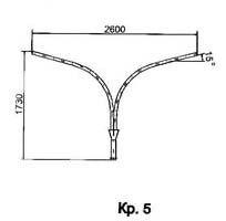 Кронштейны для светильников КР-6 (1036) и КР-9