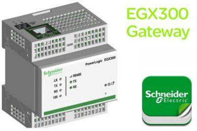 EGX300 - Сервер-шлюз Modbus-Ethernet для устройств гаммы Powerlogic system Schneider Electric