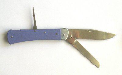 Нож монтажный складной ТРЕХпредметный специальный С-131У