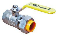 Кран газовый шаровой труба-ВР, никель (100 шт/уп) P*FL(C)15*1/2 (G)