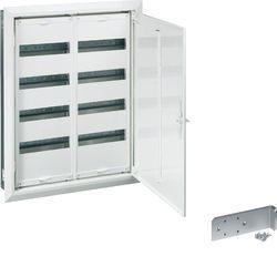 FW33UG2Щиток встраиваемый, секционный, с оснасткой, двери с прозрачными вставками, IP30,500x800x110мм, корпус -сталь, дверца с рамкой окрашенные, цвет RAL9010
