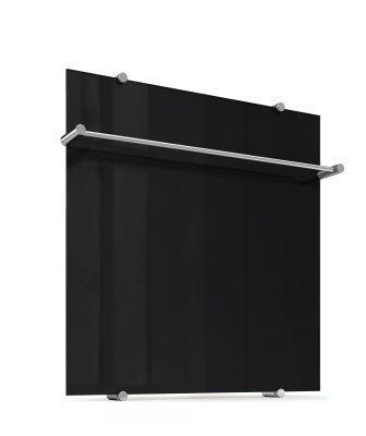 Стеклянный полотенцесушитель Теплолюкс FLORA Черный 60х60