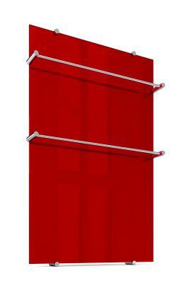 Стеклянный полотенцесушитель Теплолюкс FLORA Красный 60х90