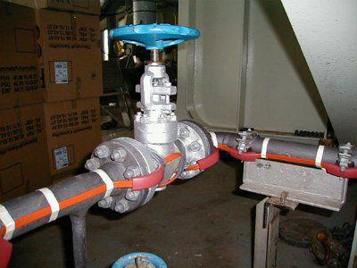 Система антиоблединения и обогрева труб, газо-, нефте-, водопроводов