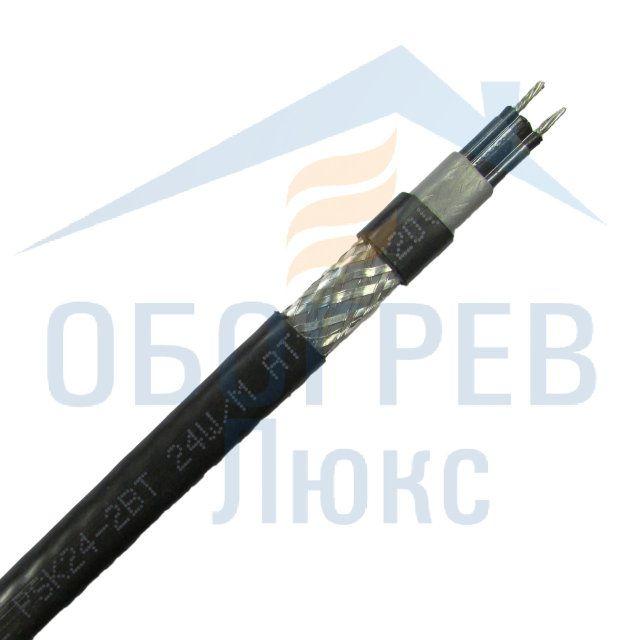 Кабель саморегулирующийся греющий нагревательный Obogrev Lux PSK 24-2 ВT для обогрева резервуаров