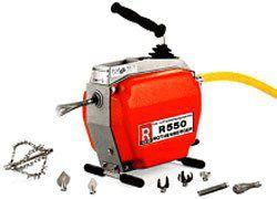 Электромеханическая прочистная машина R 550 (Ротенбергер, Rothenberger) для прочистки труб.