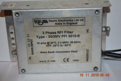 Сетевой фильтр 3G3MV PFI 3010-E 10a 3*480V