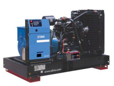 SDMO Montana J 220K (176 кВт/220 кВА) Трехфазная стационарная дизельная электростанция
