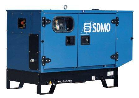 SDMO Pacific T11HKM-IV (11,5 кВт/11,5 кВА) Однофазная стационарная дизельная электростанция в шумозащитном кожухе