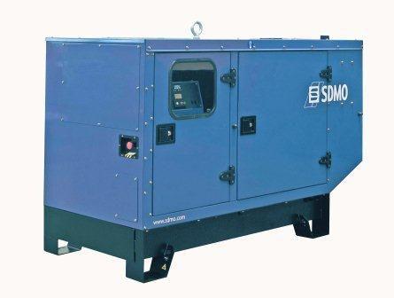 SDMO Pacific T22K-IV (17,6 кВт/22 кВА) Трехфазная стационарная дизельная электростанция в шумозащитном кожухе