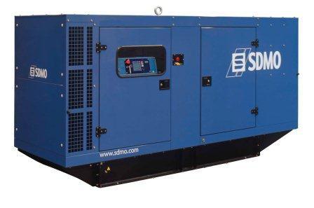 SDMO Montana J 220K-IV (176 кВт/220 кВА) Трехфазная стационарная дизельная электростанция в шумозащитном кожухе