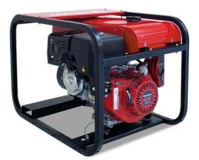 GESAN G 5 TF H Key Портативный 3-фазный бензогенератор с электростартером, с двигателем HONDA 3000 об/мин. Номинальная мощность 4,0 кВт.
