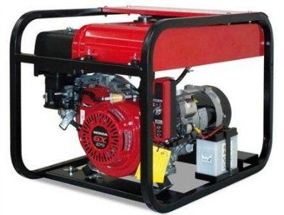 GESAN G 5000 H AUTO Портативный 1-фазный бензогенератор c блоком автозапуска, с двигателем HONDA 3000 об/мин. Номинальная мощность 4,0 кВт.