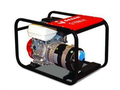 GESAN G 7000 H AUTO Портативный 1-фазный бензогенератор с блоком автозапуска, с двигателем HONDA 3000 об/мин. Номинальная мощность 5,6 кВт.