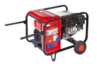 GESAN G 8/10 MFH Портативный 1-фазный бензогенератор с двигателем HONDA 3000 об/мин. Номинальная мощность 6,4 кВт.
