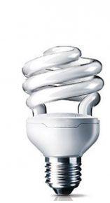 Энергосберегающая лампа полуспираль 9W (E14-27),2700К и 6400К
