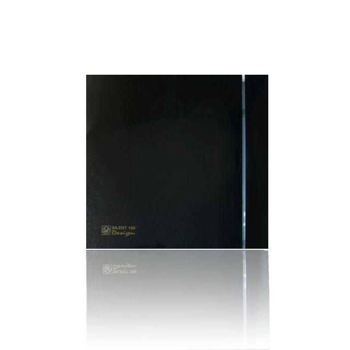 Вытяжной бытовой вентилятор Soler and Palau SILENT-100 CHZ BLACK DESIGN-4C
