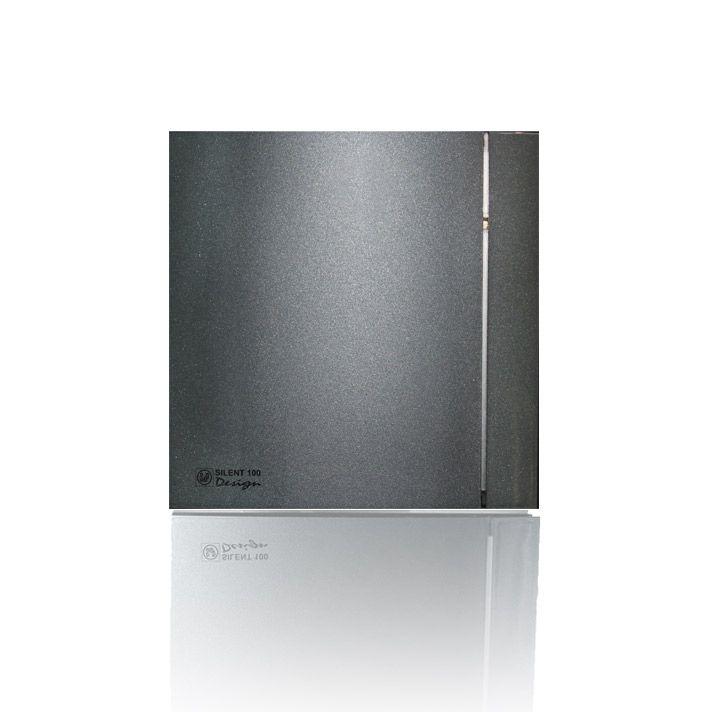 Вытяжной бытовой вентилятор Soler and Palau SILENT-100 CHZ GREY DESIGN-4C