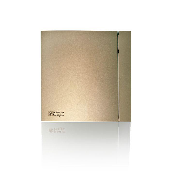 Вытяжной бытовой вентилятор Soler and Palau SILENT-200 CRZ CHAMPAGNE DESIG N - 4C