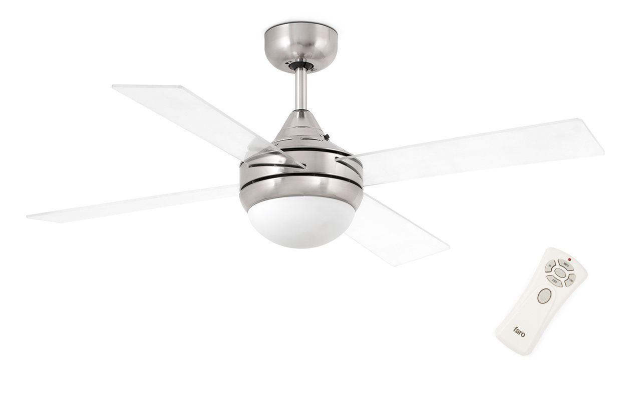 Люстра вентилятор Mini Icaria Matt Nickel (33696FAR)