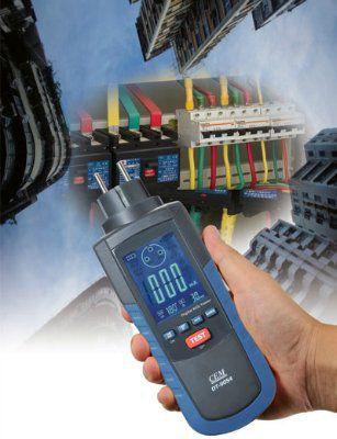 Цифровой тестер УЗО и параметров электросетей DT-9054