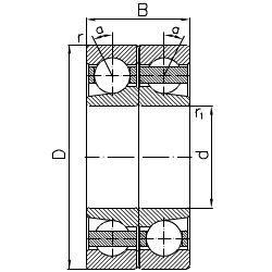 Подшипник SKF 7322B.M/DF