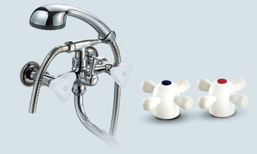 Смеситель ПСМ - ПрофСан -156-К99 для ванной комнаты (с душем, настенный)