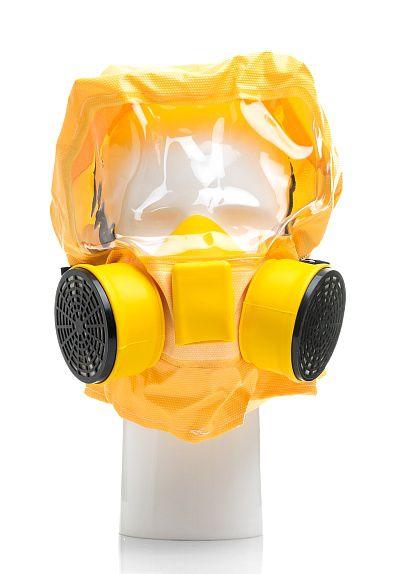 Универсальный фильтрующий малогабаритный самоспасатель (УФМС) «Шанс-Е» с полумаской