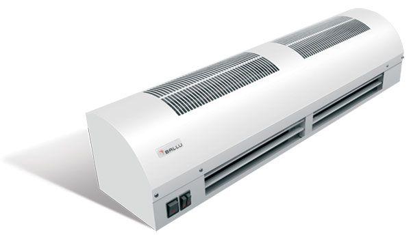 Тепловая завеса Ballu BHC-3 SB, мощность 0/1,5/3,0 кВт, высота установки до 2,5м, расход воздуха 380 м3\ч,скорость потока 6,5 м\с, напр.220В, вес 6кг