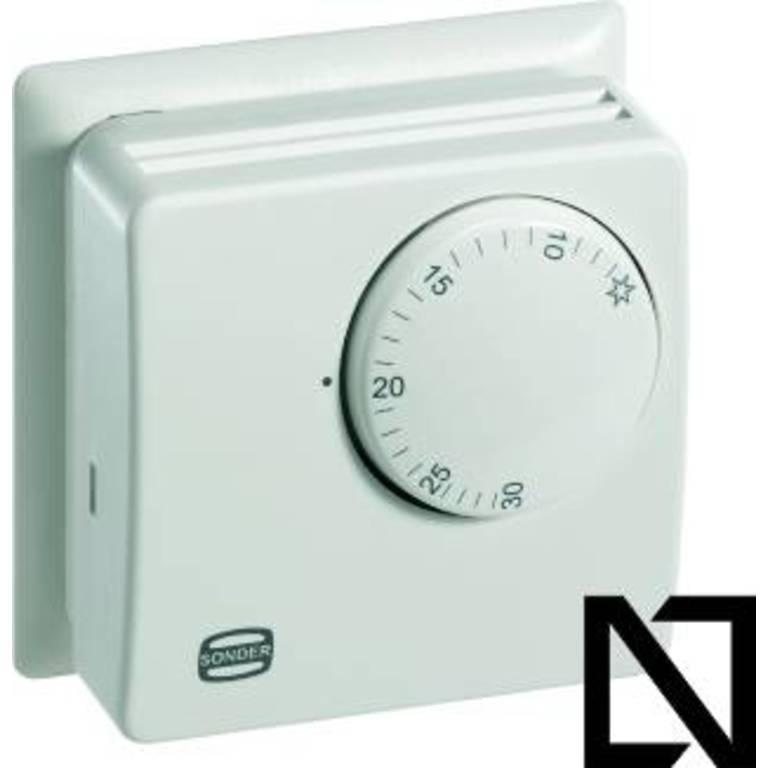 Термостат TA3002 (con placa) Sonder (Комнатные термостаты — механические)