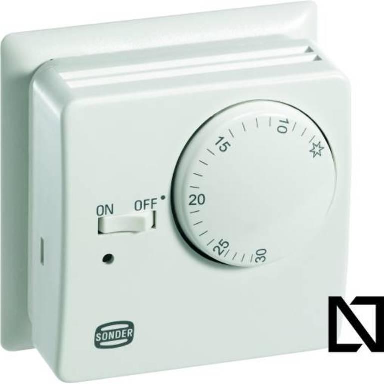 Термостат TA3007 (con placa) Sonder (Комнатные термостаты — механические)
