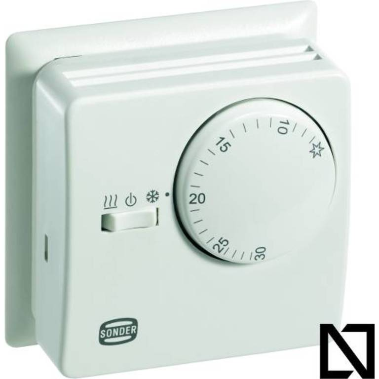 Термостат TA3008 (con placa) Sonder (Комнатные термостаты — механические)