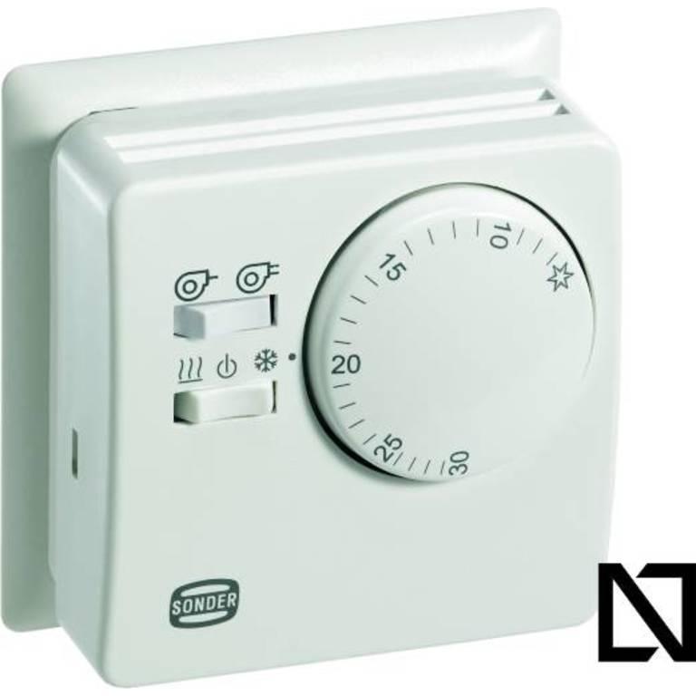 Термостат TA3010 (con placa) Sonder (Комнатные термостаты — механические)
