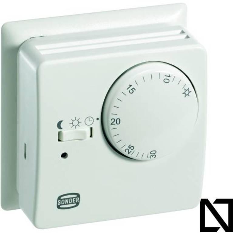 Термостат TA3012 (con placa) Sonder (Комнатные термостаты — механические)