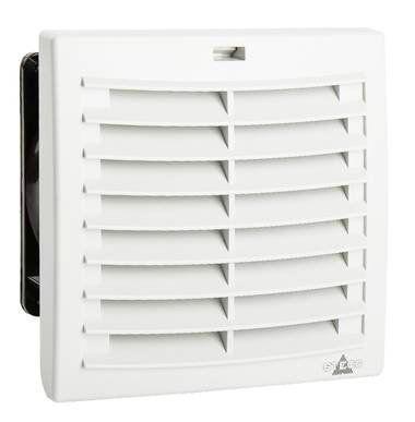 Комплект. Вентилятор с фильтром + Решетка + Термостат NO,. 124 х 124 мм, 97 м3/час, IP54, 230VAC