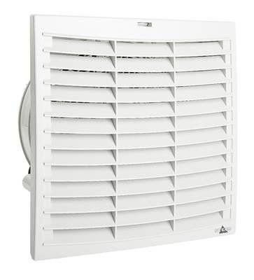 Комплект. Вентилятор с фильтром + Решетка + Термостат NO,. 291 х 291 мм, 727 м3/час, IP54, 230VAC