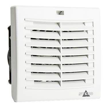 Комплект. Вентилятор с фильтром + Решетка + Термостат NO,. 92 х 92 мм, 24 м3/час, IP54, 230VAC