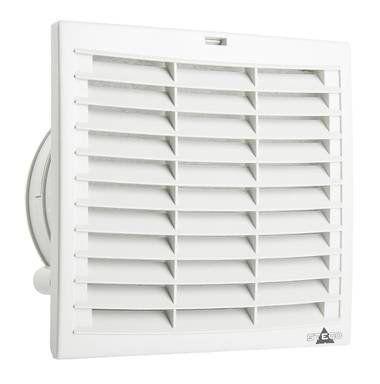 Комплект. Вентилятор с фильтром + Решетка,. 223 х 223 мм, 305 м3/час, IP54, 230VAC