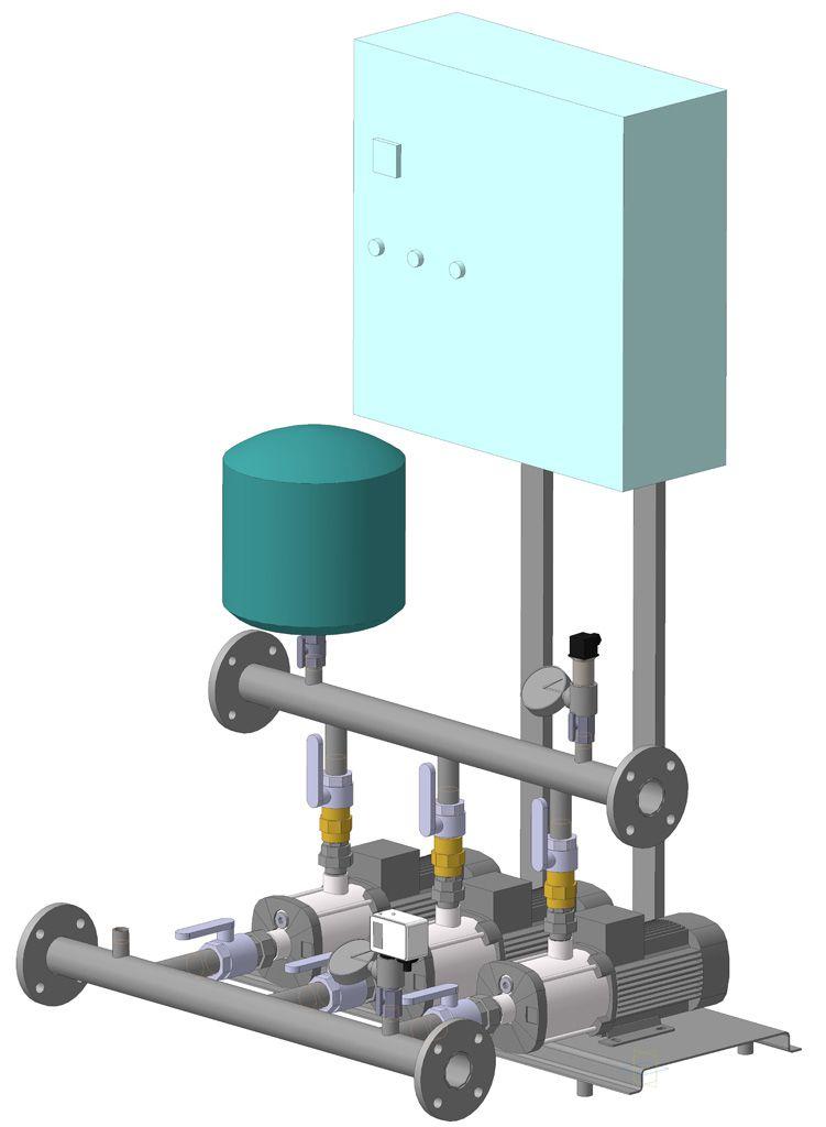 Насосная станция повышения давления ESaver СПД-12-КН-5-5