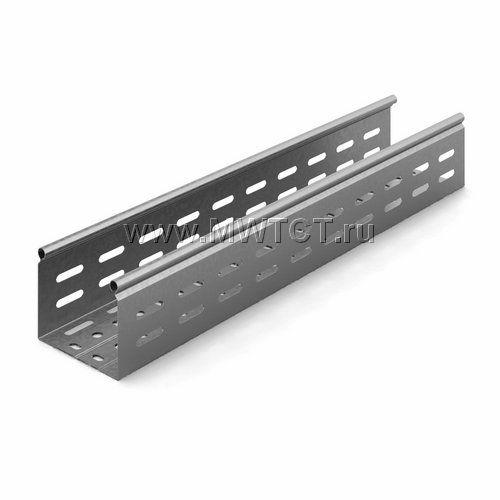 ЛПМЗТ-100х80пр OSTEC Металлический перфорированный лоток трубчатый 100*80*2500