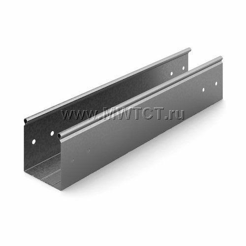 ЛНМЗТ-100х100пр OSTEC Металлический неперфорированный лоток трубчатый 100*100*2500