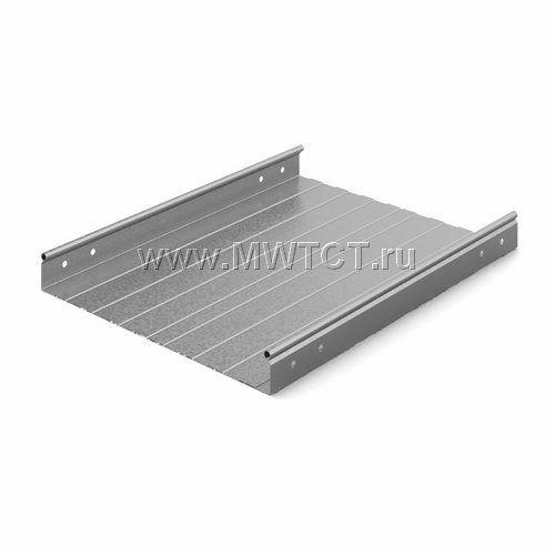 ЛНМЗТ-400пр OSTEC Металлический неперфорированный лоток 400*50*2500