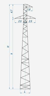 Опора угловая анкерная переходная УАП35-4н